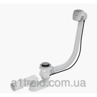 Сифон для ванны автомат комплект хромированный A51CR Alco Plast Алька Пласт