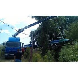 Перевезення водних скутерів краном-маніпулятором з розвантаженням