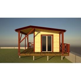 Альтанка дерев'яна закритого типу 3х4 м