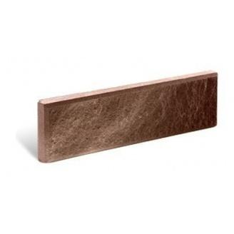 Фасадная плитка Литос Тонкая Колотая с фаской 250x20x65 мм шоколад
