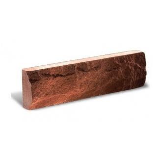 Фасадная плитка Литос Тонкая Скала 250x12x65 мм красный