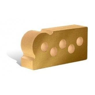 Облицовочный кирпич Литос Фасонный Капля Гладкий пустотелый 250x120x65 мм слоновая кость