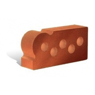 Облицовочный кирпич Литос Фасонный Капля Гладкий пустотелый 250x120x65 мм красный