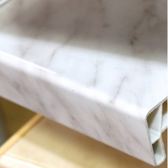 Пластиковый подоконник Open Teck 150 мм мрамор