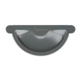 Заглушка жолоба Акведук Преміум 125 мм графітовий RAL 7011