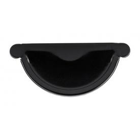 Заглушка жолоба Акведук Преміум 125 мм чорний RAL 9005