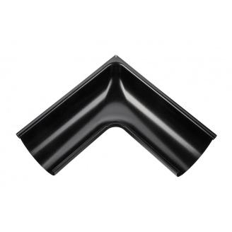 Внешний угол желоба Акведук Премиум 90 градусов 125 мм черный RAL 9005