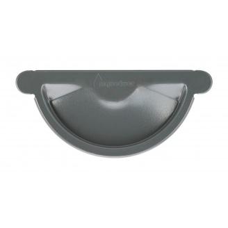 Заглушка желоба Акведук Премиум 125 мм графитовый RAL 7011