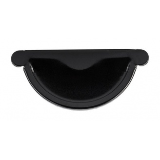 Заглушка желоба Акведук Премиум 125 мм черный RAL 9005