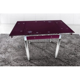 Стол обеденный Франческо Микс Мебель 800x800x750 мм баклажан