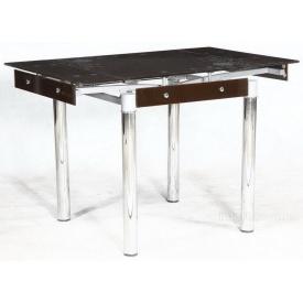 Стол на кухню раздвижной Франческо Микс Мебель 800-1300x800x750 мм коричневый