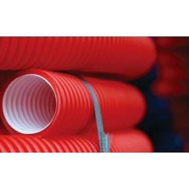 Труби E2-T двошарові гофровані для захисту підземних кабельних мереж 110 мм