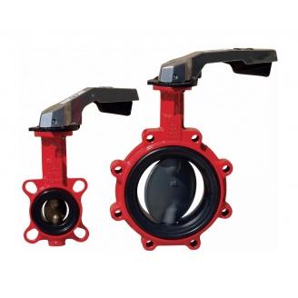 Затвор дисковий ABO valve тип 624В з ручкою Ду80 Ру16