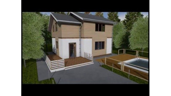 Житловий каркасний будинок 100 м2