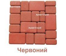 Тротуарная плитка вибропрессованная Старый Город 4 см красная