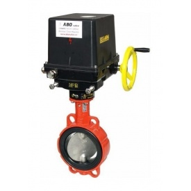 Затвор дисковый ABO valve тип 913В WCB с редуктором Ду400 Ру16