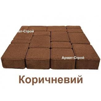 Тротуарная плитка вибропрессованная Старый Город 4 см коричневая