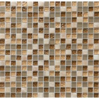 Мозаика мрамор стекло VIVACER DAF1, 30х30 см