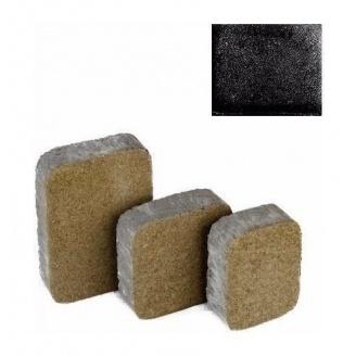 Тротуарная плитка ЮНИГРАН Царское село 40 мм обсидиан на сером цементе