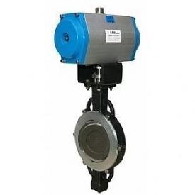Затвор ABO valve тип 5590В с редуктором Ду100 Ру25