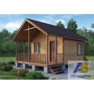 Строительство дачного домика с просторным крыльцом