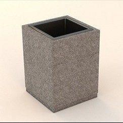 Урна з бетону 650х440х440 мм