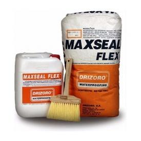 Гидроизоляционная смесь Drizoro MAXSEAL FLEX гладкой текстуры 22 кг + 10 л серый