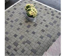Тротуарная плитка Старый город 40 мм белая