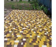 Тротуарная плитка Старый город 40 мм желтая