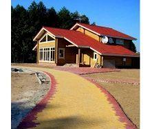 Тротуарная плитка Старый город 80 мм желтая