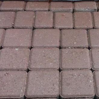 Тротуарная плитка Старый город 80 мм коричневая