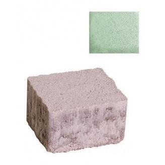 Тротуарная плитка ЮНИГРАН Плаза 60 мм малахит на белом цементе