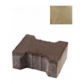 Тротуарная плитка ЮНИГРАН Двутавр 200х165х80 мм оливка на сером цементе