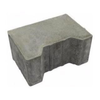 Тротуарна плитка ЮНІГРАН Двотавр П 200х140х100 мм сірий стандарт