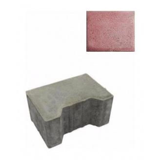 Тротуарна плитка ЮНІГРАН Двотавр П 200х140х100 мм рубін на сірому цементі