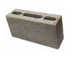 Блок бетонный пустотный ЮНИГРАН Н-образный М-100 400х90х200 мм серый стандарт
