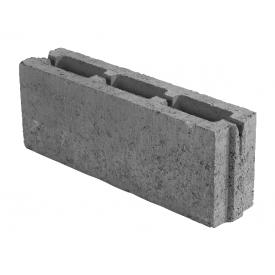 Блок бетонный пустотный ЮНИГРАН М-100 паз-гербень 500х115х200 мм серый стандарт