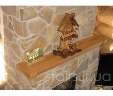 Полка на камин деревянная