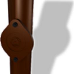 Обсадная труба PREFA с отверстием для чистки 80 мм 1000 мм