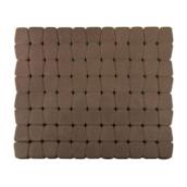 Тротуарная плитка ЮНИГРАН Гамма 60 мм каштан на сером цементе