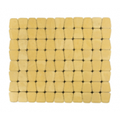 Тротуарная плитка ЮНИГРАН Гамма 60 мм лимон на белом цементе