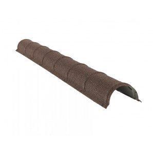 Планка конька круглого QueenTile 1,98 м brown