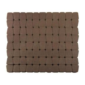 Тротуарна плитка ЮНІГРАН Гамма 60 мм каштан на сірому цементі