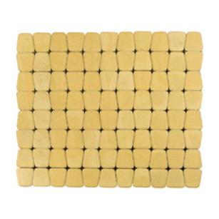Тротуарна плитка ЮНІГРАН Гамма 60 мм лимон на білому цементі
