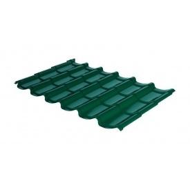 Металлочерепица RAUNI Mini 1180/1100 мм 0,45 мм MAT Polyester SeAH Steel (Корея) RAL 6005