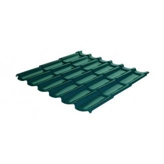 Металлочерепица RAUNI Standart 1180/1100 мм 0,45 мм Polyester SeAH Steel (Корея) RAL 6005