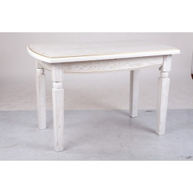 Стол обеденный раскладной Кайман Микс Мебель 1200/1600x700 мм белый