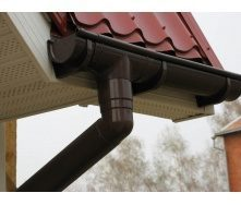 Кут жолоба внутрішній/зовнішній Aqueduct металевий 125 мм 90 градусів коричневий