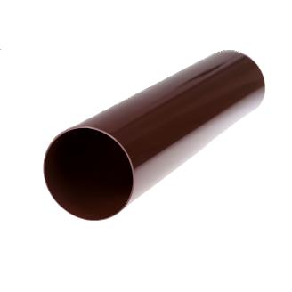 Труба металева 87 мм 1 м коричнева