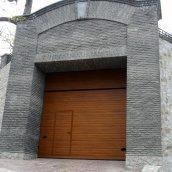 Ворота гаражные секционные Ryterna TLB woodgrain узкий гофр Golden oak